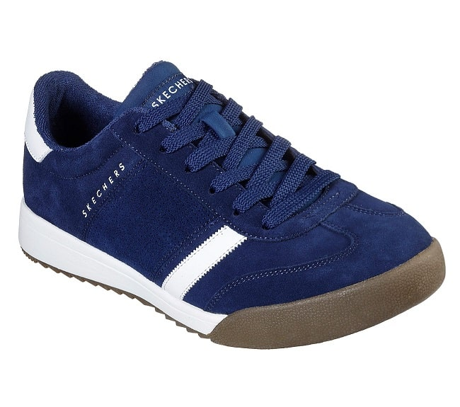 Skechers Zinger Ventich Mens Navy Suede Lace Up Trainers